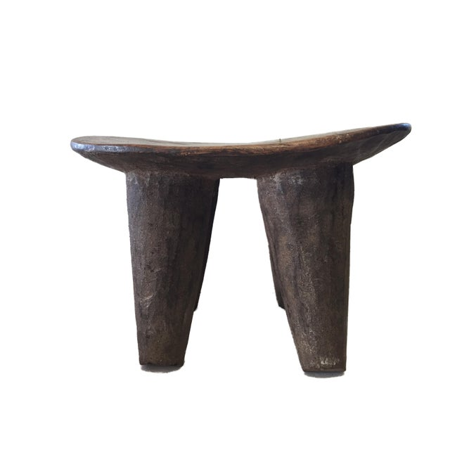"""African Senufo Wood Milk Stool I . Coast 12"""" W For Sale In New York - Image 6 of 6"""