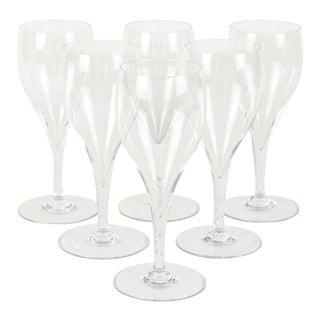 Vintage Baccarat Crystal Wine Glassware Set Six For Sale
