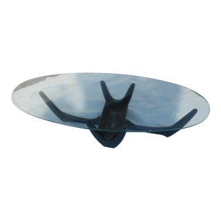 Vintage 1960's Adrian Pearsall Ebony Planter Coffee Table For Sale