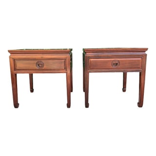 1960s Ming Handcrafted End Tables - a Pair For Sale