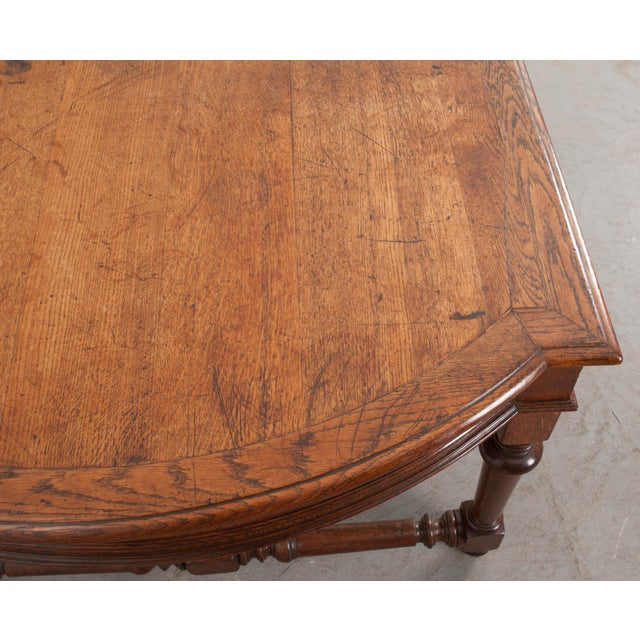Brown 19th Century French Oak Sewing Table For Sale - Image 8 of 13