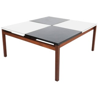Lewis Butler Black and White Coffee Table, Knoll, 1960 For Sale