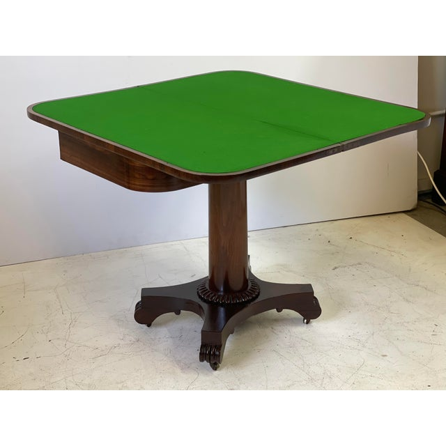 Brown 19th Century English Regency Rosewood Games Table For Sale - Image 8 of 13
