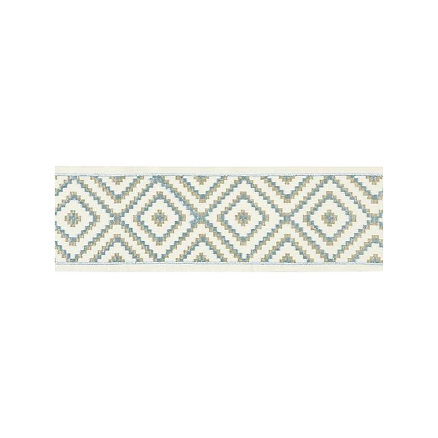 Scalamandre Medina Embroidered Tape, Mineral For Sale