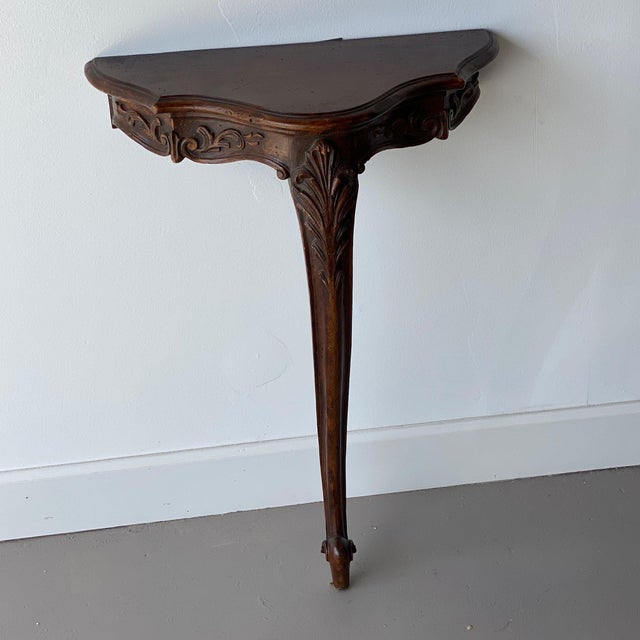 Wood 20th Century French Wall Console For Sale - Image 7 of 7