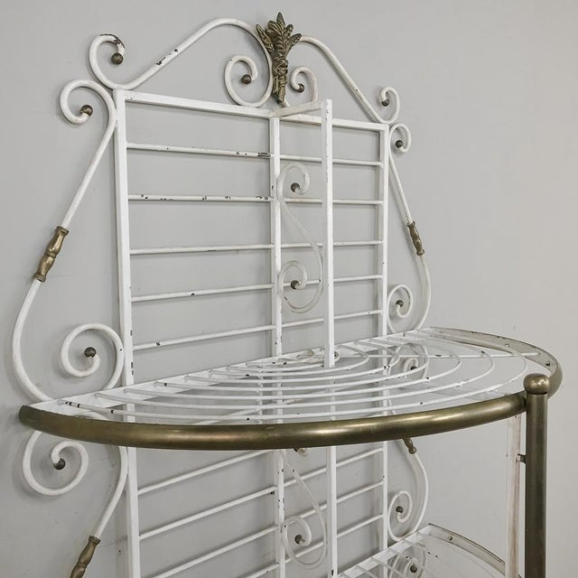 19th Century French Wrought Iron Demilune Baker's Rack For Sale In Dallas - Image 6 of 12