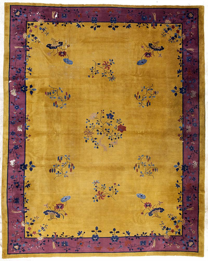 Gold Purple Antique Art Deco Chinese Rug 12 X14 Chairish