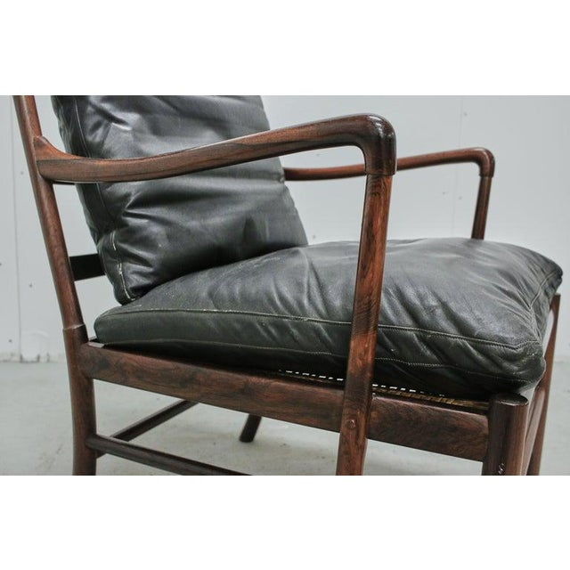 Rosewood Ole Wanscher Colonial Chair, P. Jeppesens Møbelfabrik, Denmark, 1960s For Sale - Image 10 of 13
