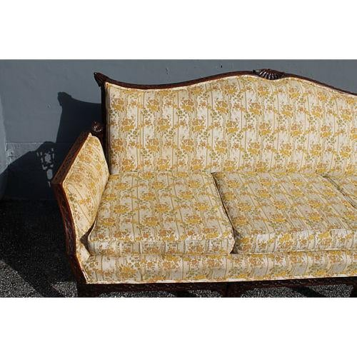 Traditional Carved Asian Chinoiserie Sofa - Image 3 of 11
