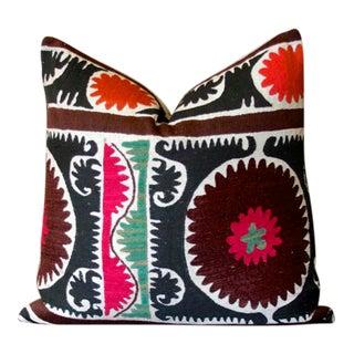 Vintage Mandala Suzani Throw Pillow For Sale