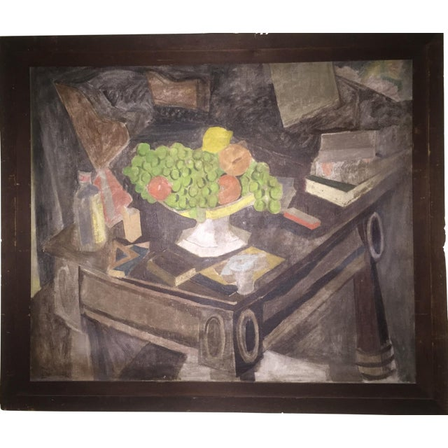 1930s Earl Horter Cubist Oil Painting For Sale