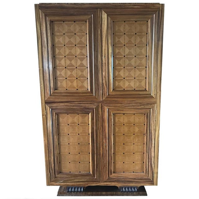 William Switzer Lucien Rollin Massive Art Deco Style Marquetry Armoire by William Switzer For Sale - Image 4 of 4