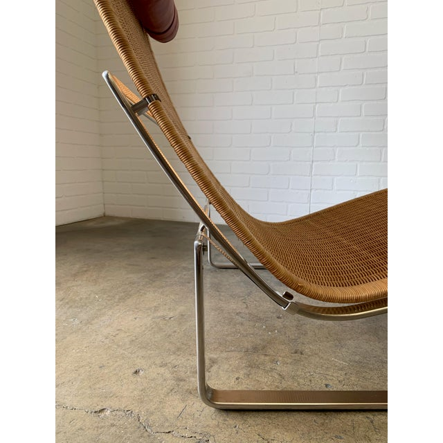 Tan Poul Kjærholm Pk 24 Chaise Lounge With Wicker Seat for Fritz Hansen For Sale - Image 8 of 12