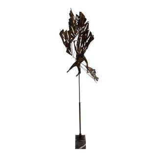 Impressive Artisan-made 'icarus' Brass and Steel Sculpture, 1960s