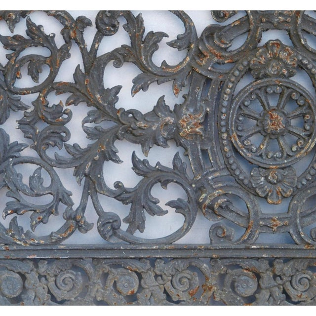 Antique 19th C. French Iron Architectural Panel - Image 9 of 11