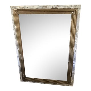 Vintage Painted and Gilt Mirror For Sale