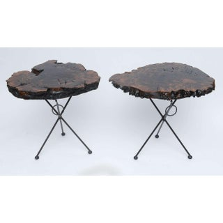 Claro Walnut and Iron Folding End Tables Preview
