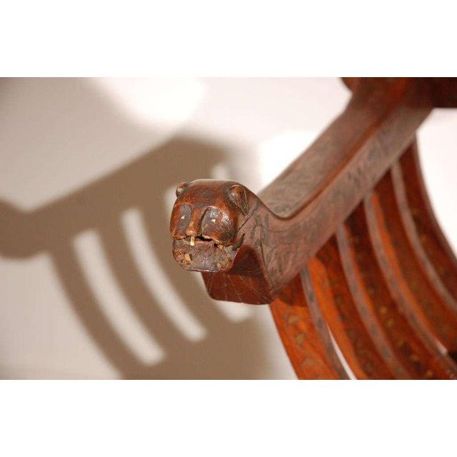 Tony Duquette Hispano Moresque Savonarola Inlaid Armchair For Sale - Image 4 of 9