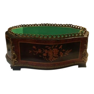 Late 19th Century Antique French Inlaid Planter For Sale