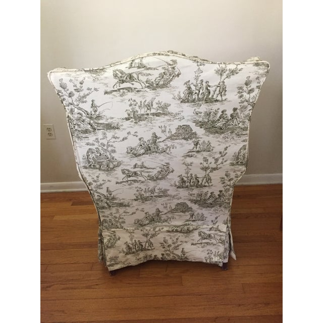 Heirloom Wingback Style Arm Chair by Baker Furniture For Sale In Baltimore - Image 6 of 6