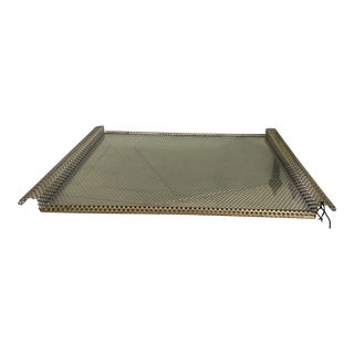 Art Deco French Brass Bar Tray For Sale