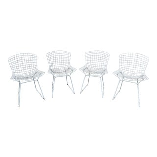 Vintage Mid-Century Harry Bertoia for Knoll Side Chairs- Set of 4 For Sale