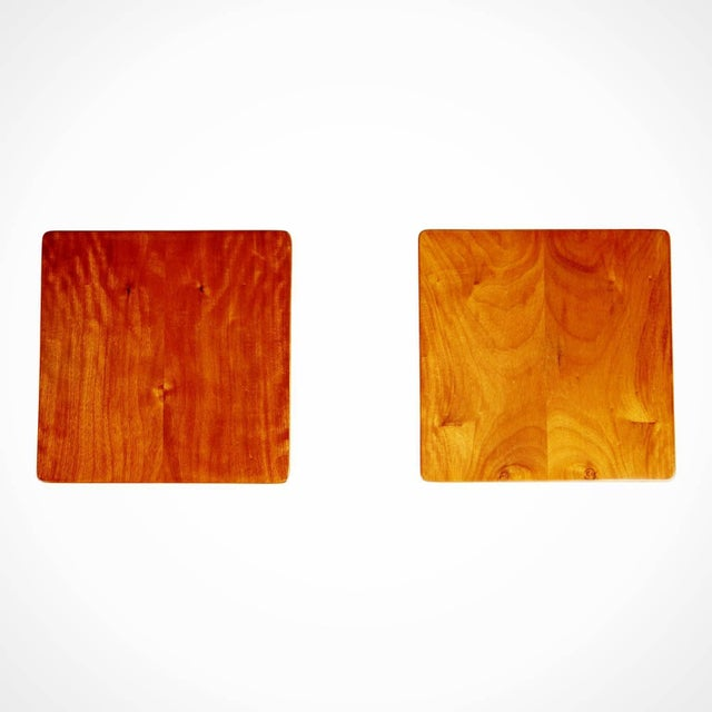 1950s 1955 Giuseppe Scapinelli Caviuna Wood Sculptural Side Tables, Brazil - a Pair For Sale - Image 5 of 11