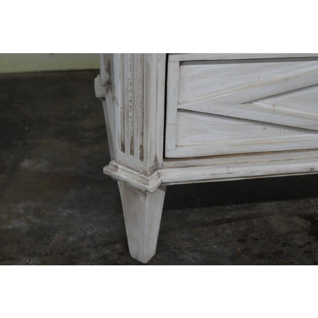 Metal 20th Century Vintage Swedish Gustavian Style Nightstands - a Pair For Sale - Image 7 of 10