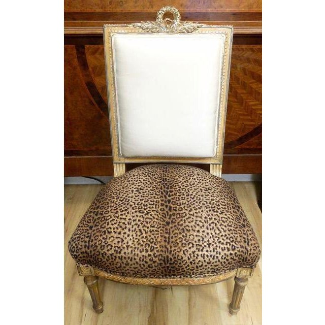 Antique French Slipper Chair - Image 4 of 5