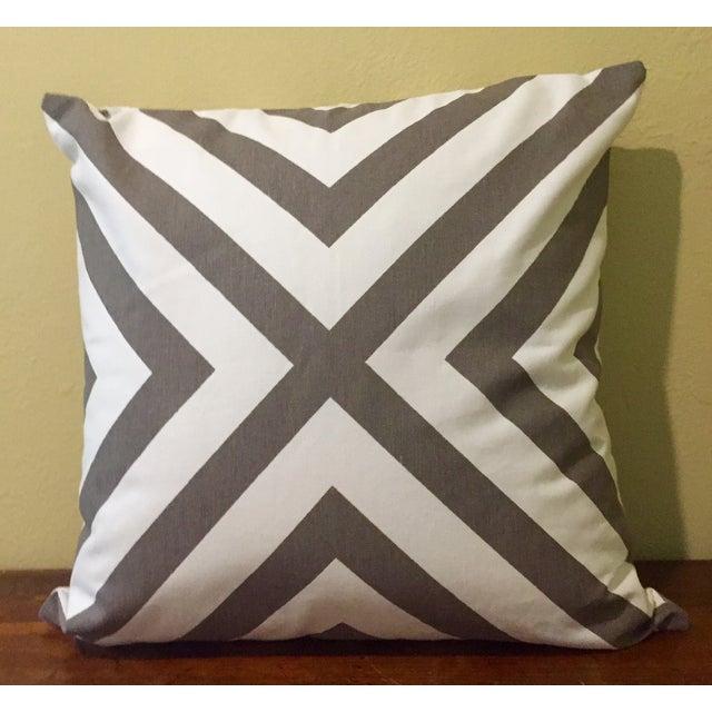 Gray & White Geometric Pillows - Set of 4 - Image 7 of 11