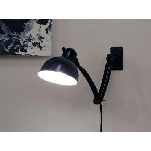 Black Wall Task Lamps by Christian Dell for Kaiser & Co. c. 1929 - A Pair For Sale - Image 10 of 10