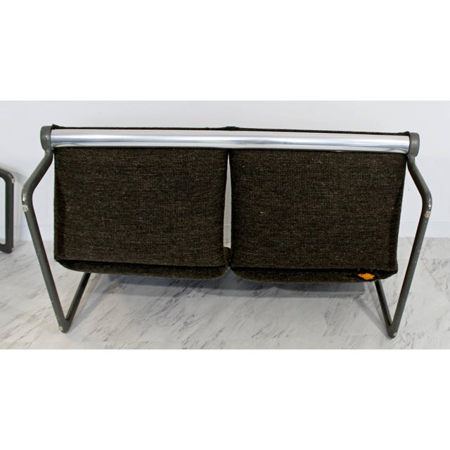 Mid-Century Modern Hannah Morrison Knoll Two-Seat Sling Sofa & Ottoman - Set of 2 For Sale - Image 9 of 10
