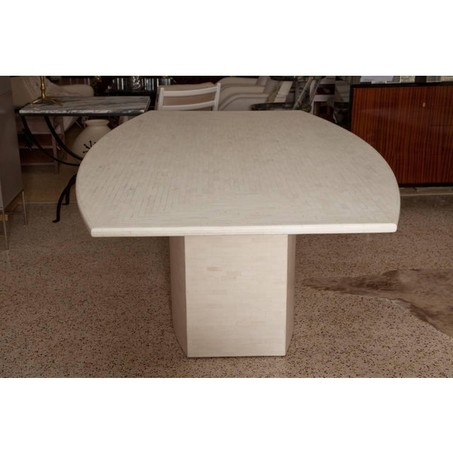 Contemporary Tessellated Bone Dining Table by Enrique Garces For Sale - Image 3 of 11