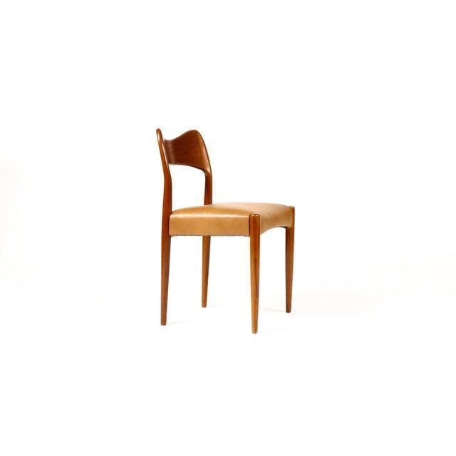 Danish Modern Vintage Mid Century Danish a.h. Olsen for Mogens Kold Teak Dining Chairs- Set of 6 For Sale - Image 3 of 10