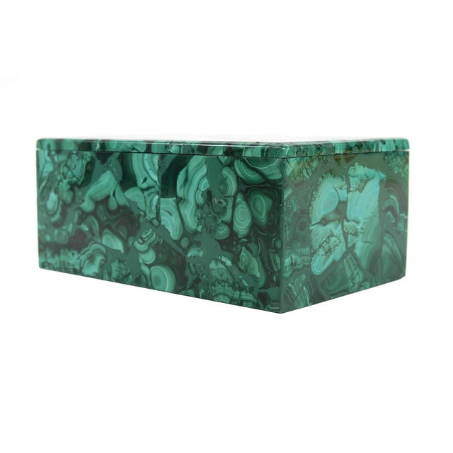Malachite Antique Lidded Box - Image 7 of 9
