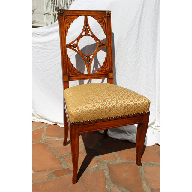 Mahogany Russian Neoclassical Side Chair For Sale - Image 7 of 7