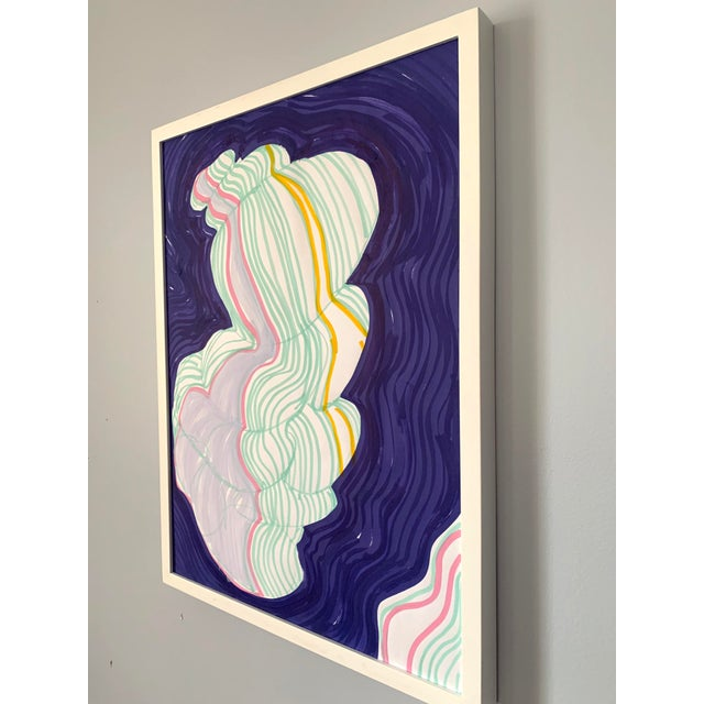 Cloud Contour Painting For Sale - Image 4 of 6