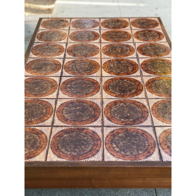 Danish Mid Century Tile-Top Coffee Table - Image 11 of 13