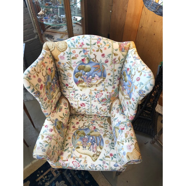 Early 19th Century Early 19th Century Antique William IV English Wingback Armchair For Sale - Image 5 of 10
