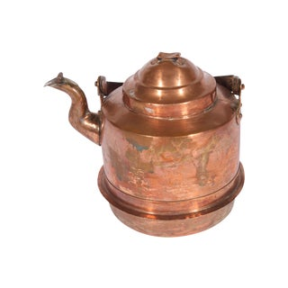 Antique Swedish Copper Tea Kettle