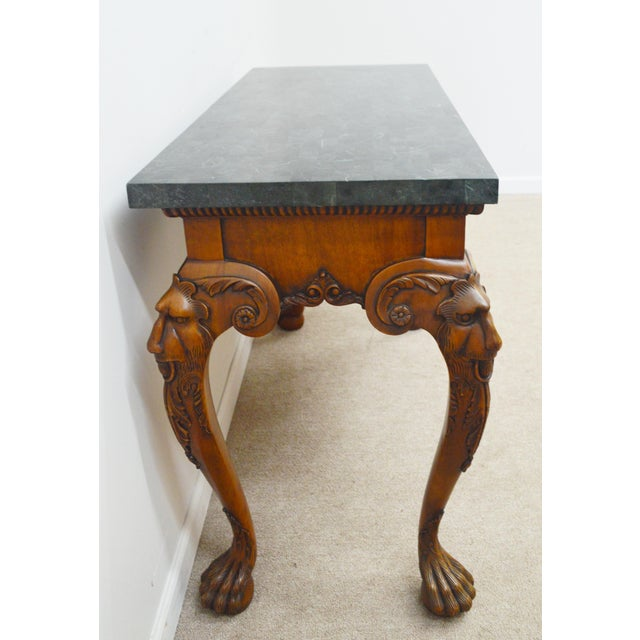 Maitland - Smith Maitland Smith Carved Lion Head Console Table For Sale - Image 4 of 13