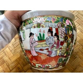 Vintage Famille Rose Medallion Fish Bowl Jardiniere Planter Cachepot Preview