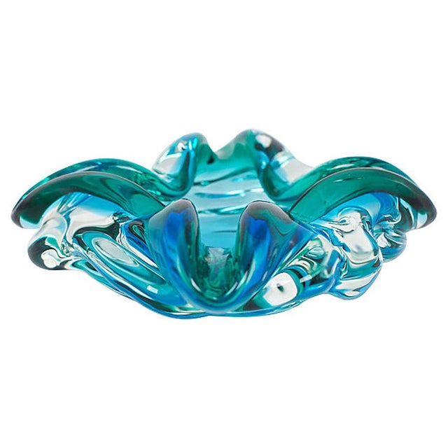 Hollywood Regency 1950s Murano Glass Catchall For Sale - Image 3 of 7