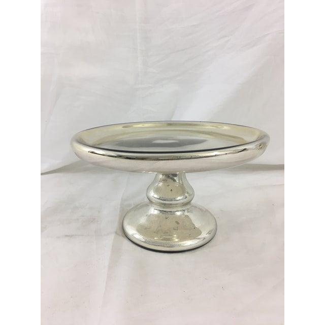 Silver 19th Century Mercury Glass Cake Stand For Sale - Image 8 of 8