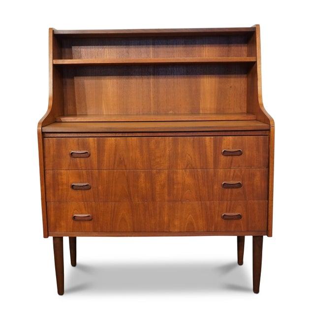 """Wood Mid Century Modern Teak Secretary - """"Lauge"""" For Sale - Image 7 of 7"""