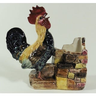 19th Century French Provincial Majolica Rooster Jardiniere Preview