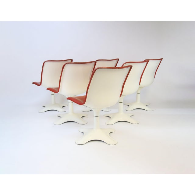 Yrjö Kukkapuro Mid Century Modern Yrjo Kukkapuro for Haimi, Finland Leather Dining Chairs- Set of 6 For Sale - Image 4 of 8