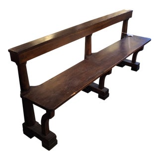 First Quarter 18th C. Walnut Hall Bench For Sale