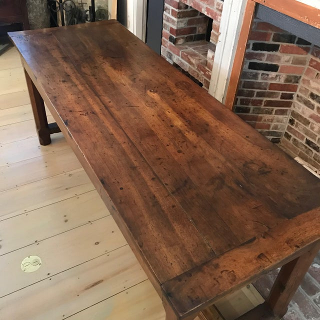 French 19th Century Walnut Farmhouse Table From Provence For Sale In Portland, ME - Image 6 of 13