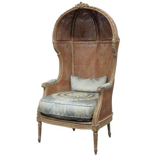 Louis XV Style Distressed Porter Chair